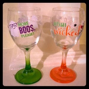 Halloween Wine Glasses New With Tags 🍷